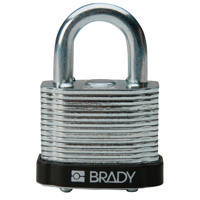 Brady Steel padlock  20MM SHA KD BLACK 6PC
