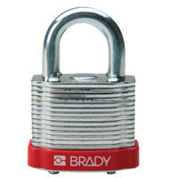 Brady Steel padlock  20MM SHA KD RED 6PC