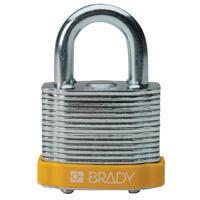 Brady Steel padlock 20MM SHA KD YELLOW 6PC