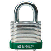 Brady Steel padlock  20MM SHA KD GREEN 6PC