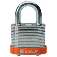 Brady Steel padlock  20MM SHA KD ORANGE 6PC