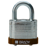 Brady Steel padlock  20MM SHA KD BROWN 6PC