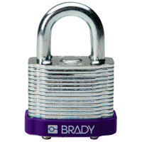 Brady Steel padlock  20MM SHA KD PURPLE 6PC