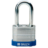 Brady Steel padlock  38MM SHA KD BLUE 6PC
