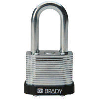Brady Steel padlock  38MM SHA KD BLACK 6PC