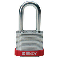 Brady Steel padlock  38MM SHA KD RED 6PC
