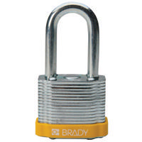 Brady Steel padlock  38MM SHA KD YELLOW 6PC