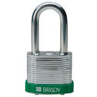 Brady Steel padlock 38MM SHA KD GREEN 6PC