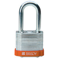 Brady Steel padlock  38MM SHA KD ORANGE 6PC