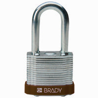 Brady Steel padlock 38MM SHA KD BROWN 6PC