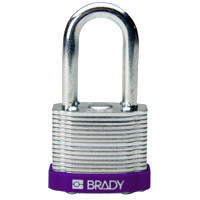 Brady Steel padlock  38MM SHA KD PURPLE 6PC