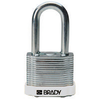 Brady Steel padlock  38MM SHA KD WHITE 6PC