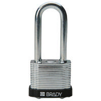 Brady Steel padlock  51MM SHA KD BLACK 6PC