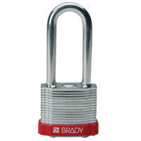 Brady Steel padlock  51MM SHA KD RED 6PC