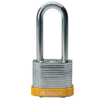 Brady Steel padlock 51MM SHA KD YELLOW 6PC