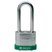 Brady Steel padlock 51MM SHA KD GREEN 6PC