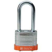 Brady Steel padlock 51MM SHA KD ORANGE 6PC