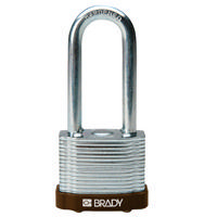 Brady Steel padlock 51MM SHA KD BROWN 6PC