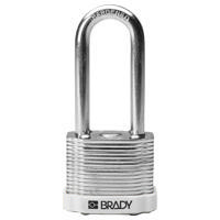 Brady Steel padlock  51MM SHA KD WHITE 6PC
