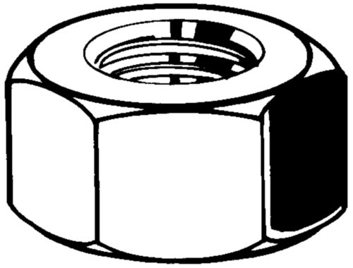 Tuerca hexagonal UNC ASME B18.2.2 Acero inoxidable (Inox) AISI304