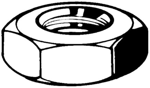 Jamnut turned UNC ASME B18.2.2 Free-cutting steel Zinc plated 04