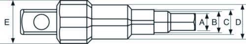 BAHC COMBINATION STEPPED KEY 8195-KEY