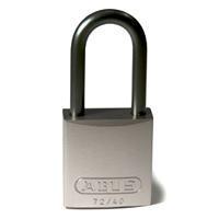 Brady Full alu padlock 40MM KD GREY 6PC