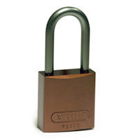 Brady Full alu padlock 40MM KD BROWN 6PC