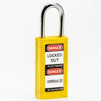 Brady Long body safety lock 1.5.IN KD YELLOW 6PC