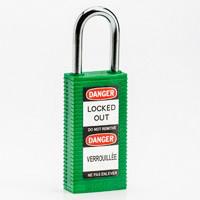Brady Long body safety lock 1.5.IN KD GREEN 6PC