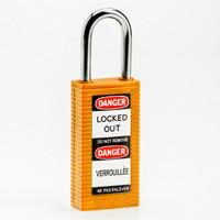 Brady Long body safety lock 1.5.IN KD ORANGE 6PC