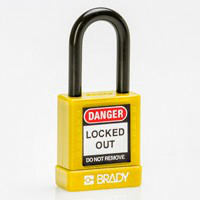 Brady Safety padlock 38MM ST KD YELLOW 6PC
