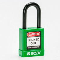 Brady Safety padlock 38MM ST KD GREEN 6PC