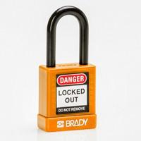 Brady Safety padlock 38MM ST KD ORANGE 6PC