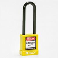 Brady Safety padlock 75MM ST KD YELLOW 6PC
