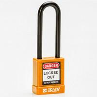 Brady Safety padlock 75MM ST KD ORANGE 6PC