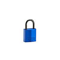 Brady Compact alu padlock 25MM KD BLUE 6PC