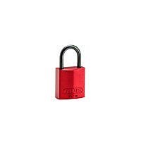 Brady Compact alu padlock 25MM KD RED 6PC