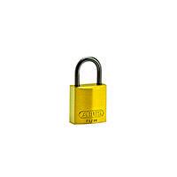 Brady Compact alu padlock 25MM KD YELLOW 6PC
