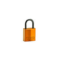 Brady Compact alu padlock 25MM KD ORANGE 6PC