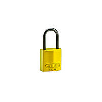Brady Compact alu padlock 40MM KD YELLOW 6PC