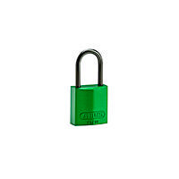 Brady Compact alu padlock 40MM KD GREEN 6PC