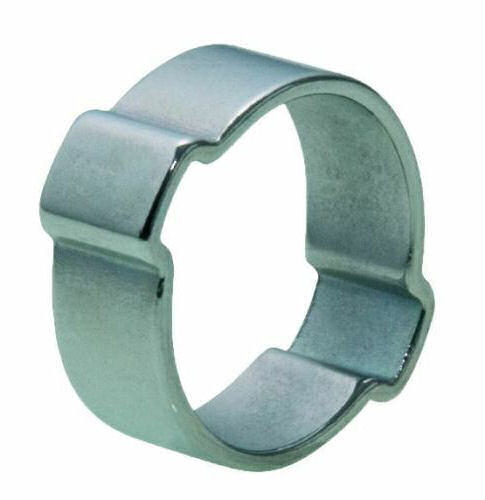 Two-ear clip  Steel  Zinc plated with thick Cr(III) passivation