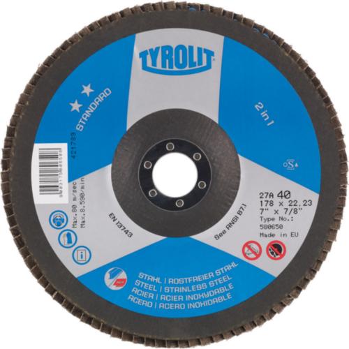 Tyrolit Flap disc 100X16 K40