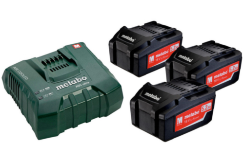 Metabo Battery set basic 3X5.2 AH + ASC ULTRA