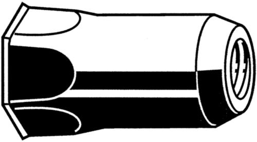 Blindklinkmoer open, klein verzonken kop, halve zeskant schacht Staal Elektrolytisch verzinkt