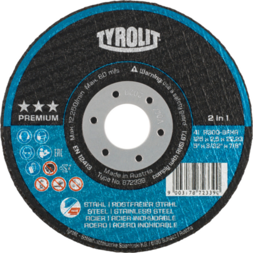 Tyrolit Cutting wheel 125X3,0X22,23