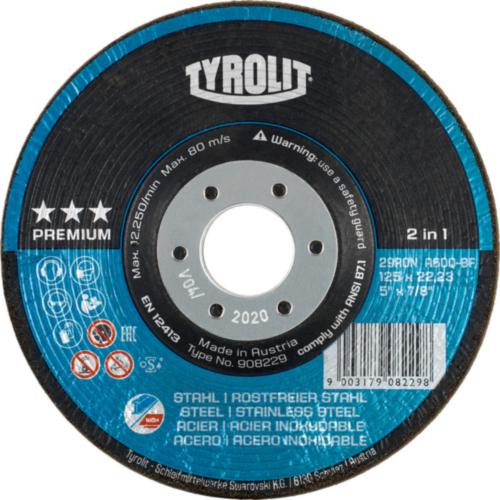Tyrolit Disque rondel 908227 125X22,2 A36