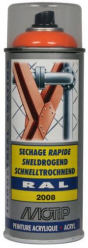 Motip 07085 Lakspray Helder Oranje-Rood RAL 2008 400 ml