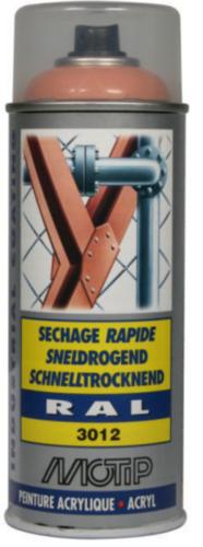 Motip 07087 Lakspray Beige-Rood RAL 3012 400 ml